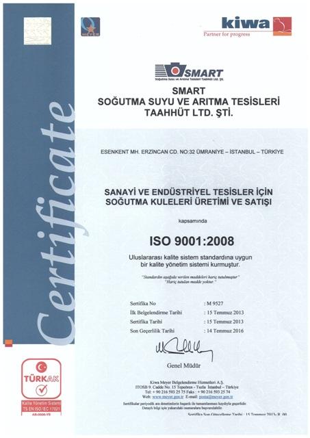 ISO 9001-2008 Kalite Yönetim Sistemi Sertifikası
